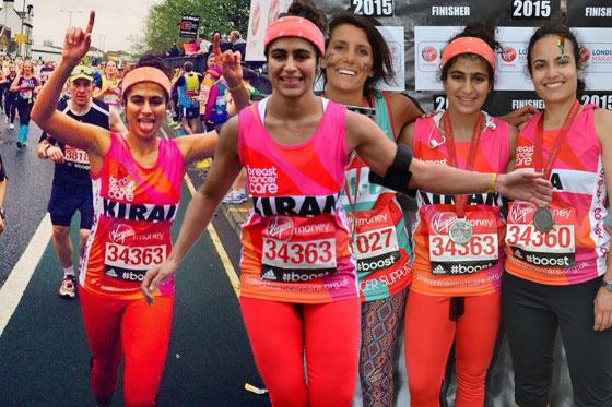 Przebiegła maraton, krwawiąc