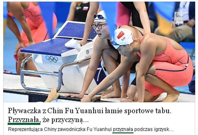 Fu Yuanhui ma okres na olimpiadzie